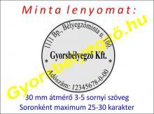 Bélyegzőkésztés 30 mm-es körbélyegzővel
