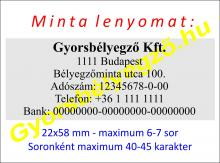 Bélyegző rendelés Budapest, IQ40 környezetbarát bélyegzővel