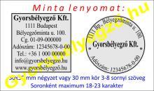 Bélyegzőkészítés 30x30 mm kör vagy négyzet