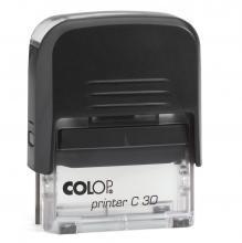 Colop C30 5 soros bélyegző fekete-átlátszó ház - bélyegzőkészítés
