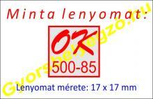 Bélyegző készítés Q17 - 17x17 mm